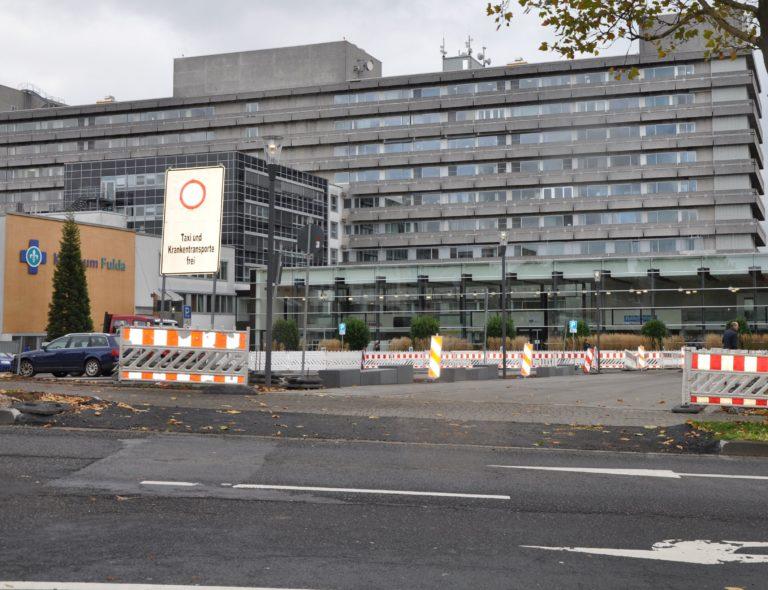 Pressebild Der Straßenverkehr Am Klinikum Fulda Wird Umgeleitet
