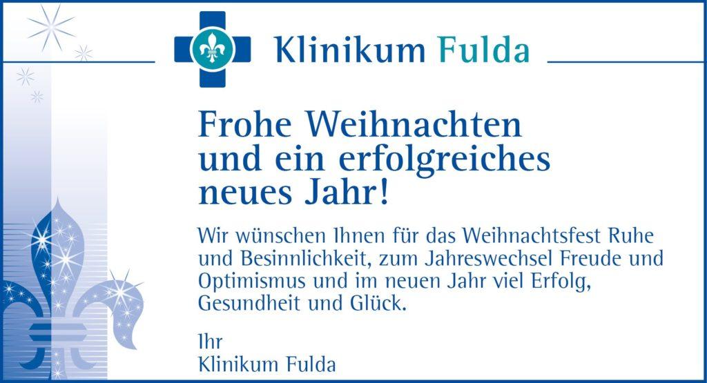 Frohe Weihnachten Und Ein Erfolgreiches Neues Jahr.Frohe Weihnachten Und Ein Erfolgreiches Neues Jahr Klinikum Fulda